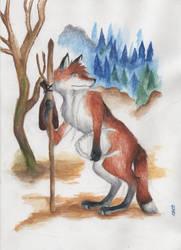 Vainamoinen as fox by Puolikuu