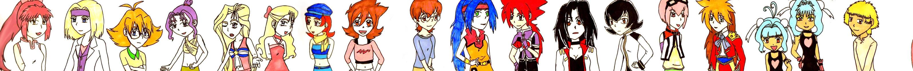 Original Beyblade Girls by MajesticIllusion