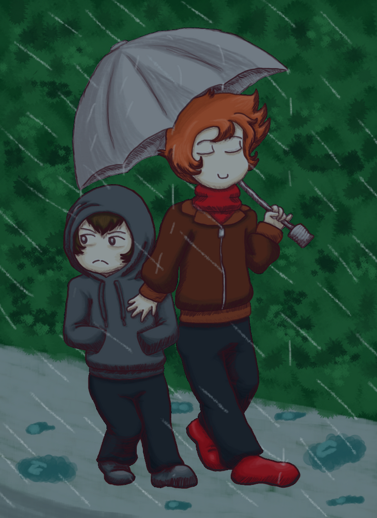 Walking In The Rain by MajesticIllusion