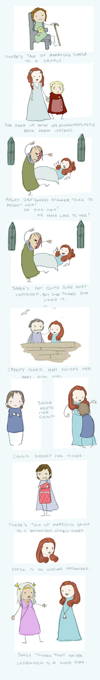 Sansa's Dating Woes: part two by alciha