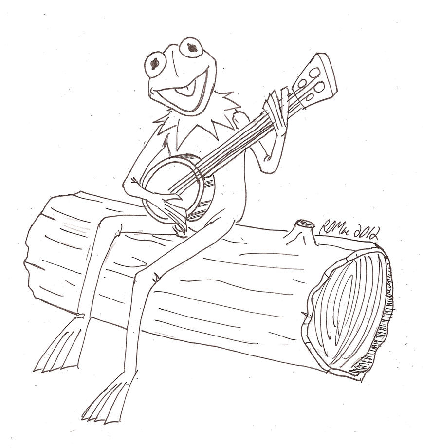 Kermit the frog by robertmacquarrie1 on deviantart for Kermit the frog coloring page