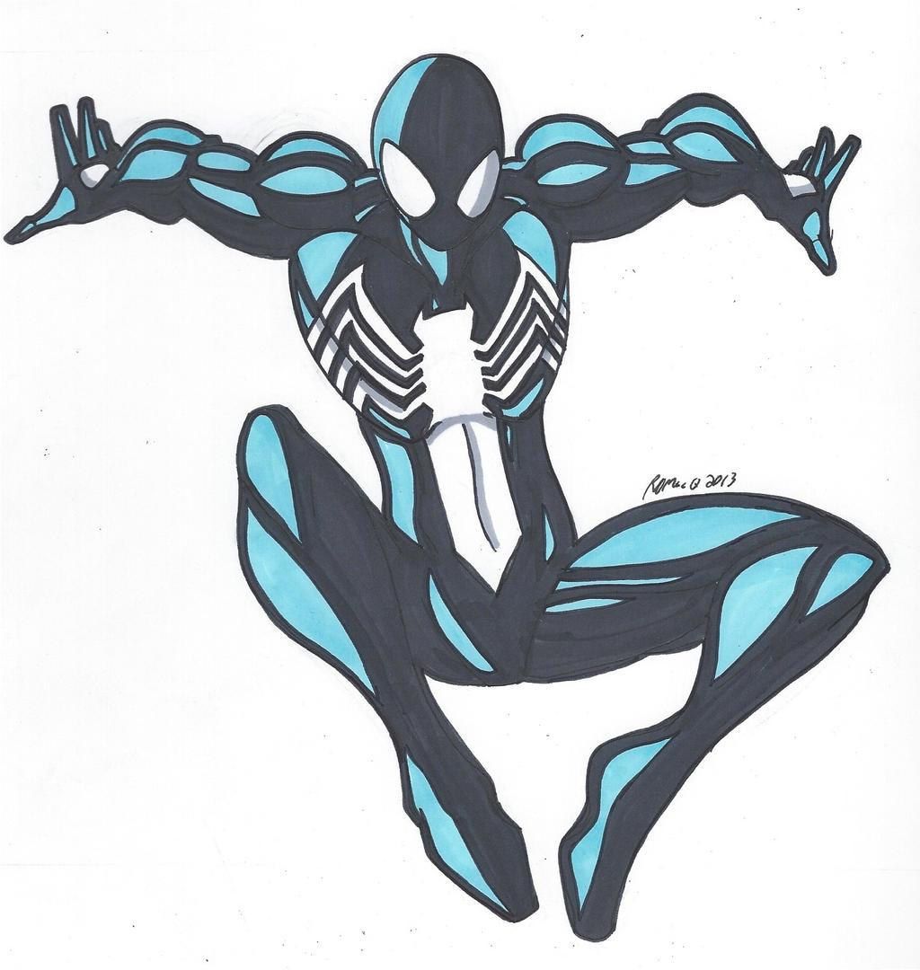 Spidey Series: Black Suit Spider-Man by RobertMacQuarrie1 ...