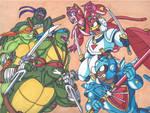 Teenage Mutant Ninja Turtles vs Samurai Pizza Cats