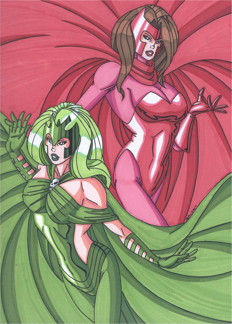Scarlet Witch & Polaris by RobertMacQuarrie1