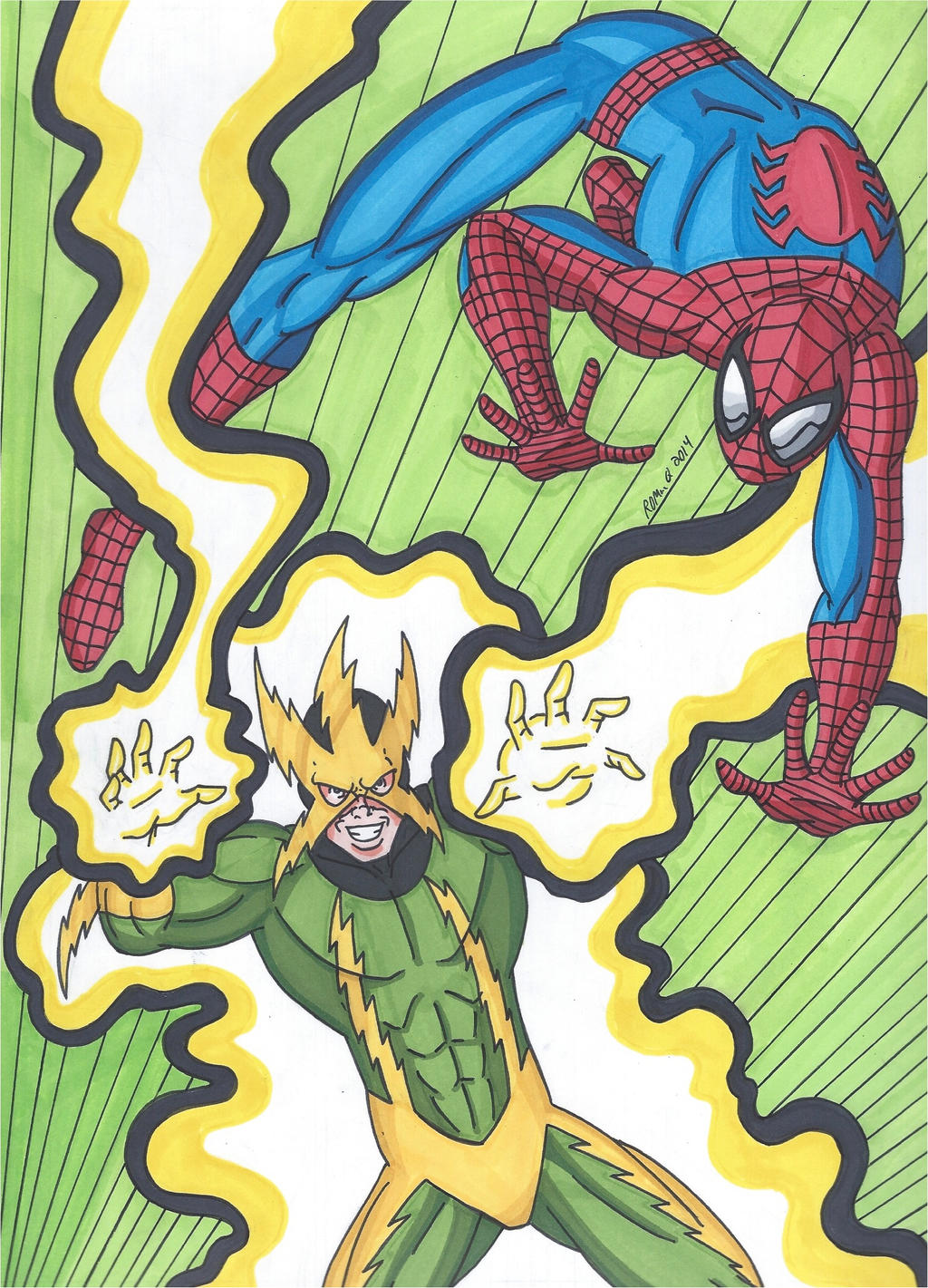 Electro Spider Man Wallpaper Spider-Man vs Electro ...