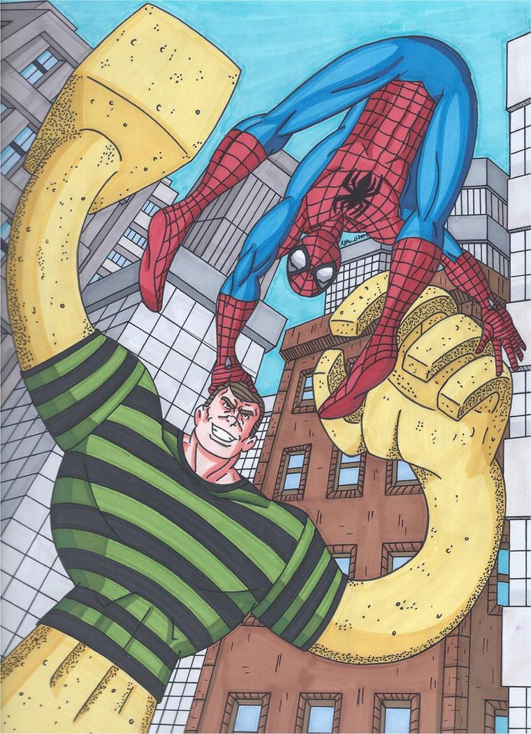 Spider-Man vs Sandman by RobertMacQuarrie1