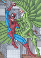 Spider-Man vs The Vulture by RobertMacQuarrie1