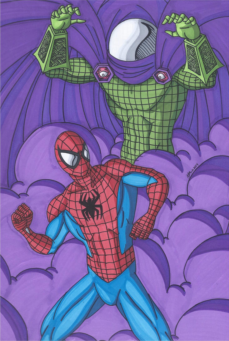 Spider-Man vs Mysterio by RobertMacQuarrie1
