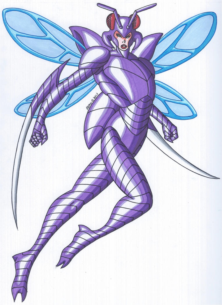 OCD- Insectica, the Insectoid Superheroine by RobertMacQuarrie1