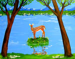 DEER BAMBI SOLO PAINTING