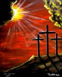 JESUS CHRIST THREE CROSSES CRUCIFIX