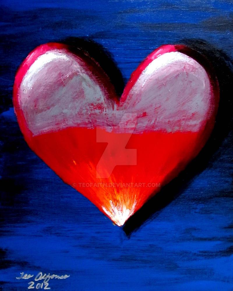 ABSTRACT VALENTINE HEART by TEOFAITH