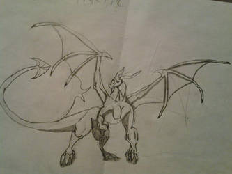 Dragon drawing by Pyro2551