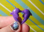 Dolphin heart pendant