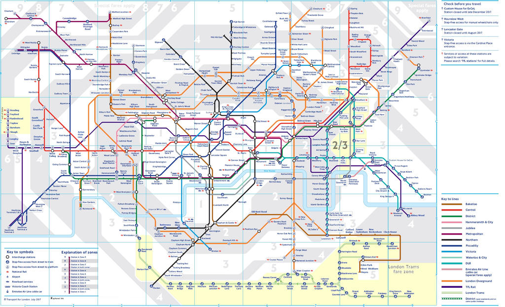 Tube Map With Planned Or Suggested Extensions by Ewxep
