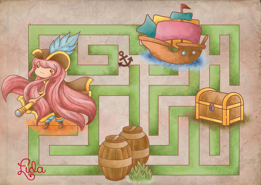Permainan Bajak Laut Mencari Harta Karun