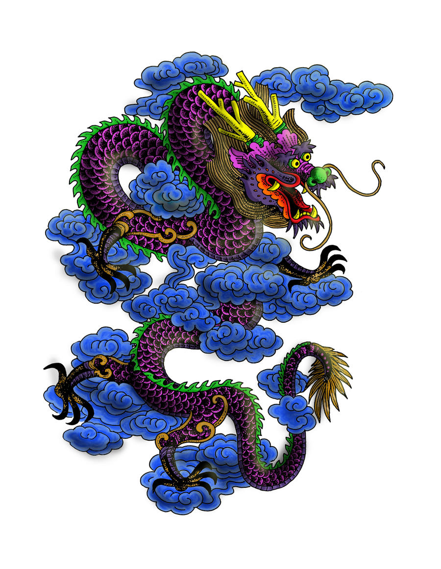 chinese dragon tatoo by moxo on deviantart. Black Bedroom Furniture Sets. Home Design Ideas