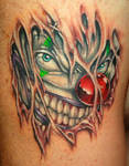 Clown tattoo
