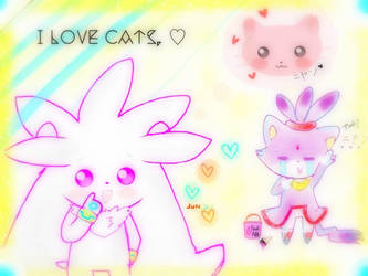 I love cats . by CatBecker