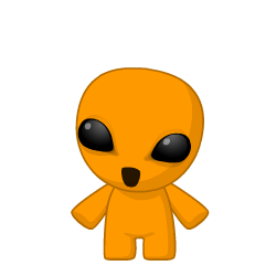 Orange Alien by bubblenubbins