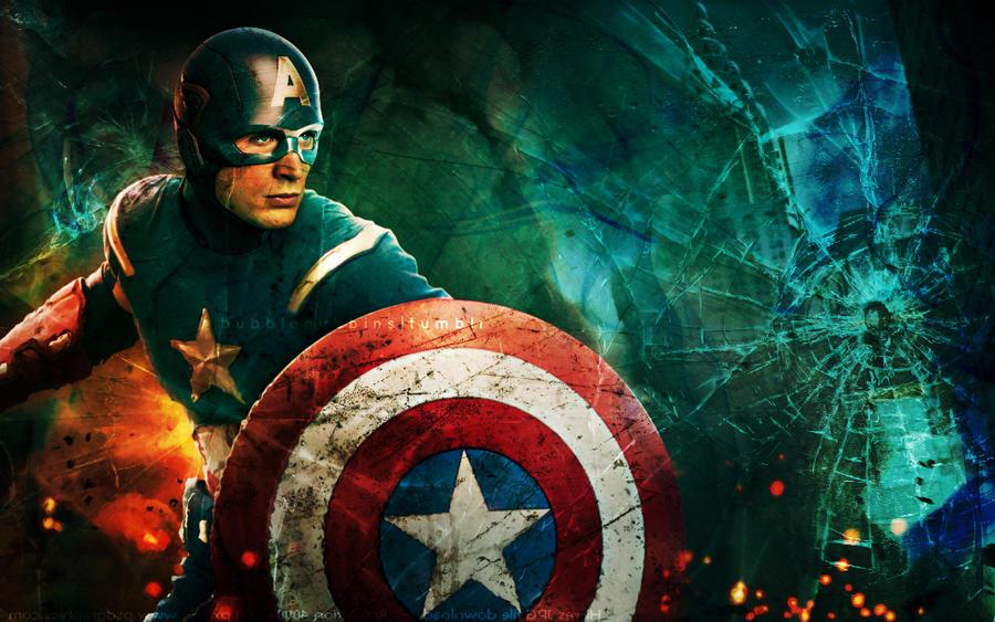 Captain America by bubblenubbins
