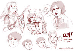 OUAT swan queen sketches by Hatterina
