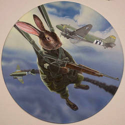 Bunny Paratrooper by AaronStockwellart
