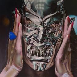Demons Mask- Rosemary by AaronStockwellart
