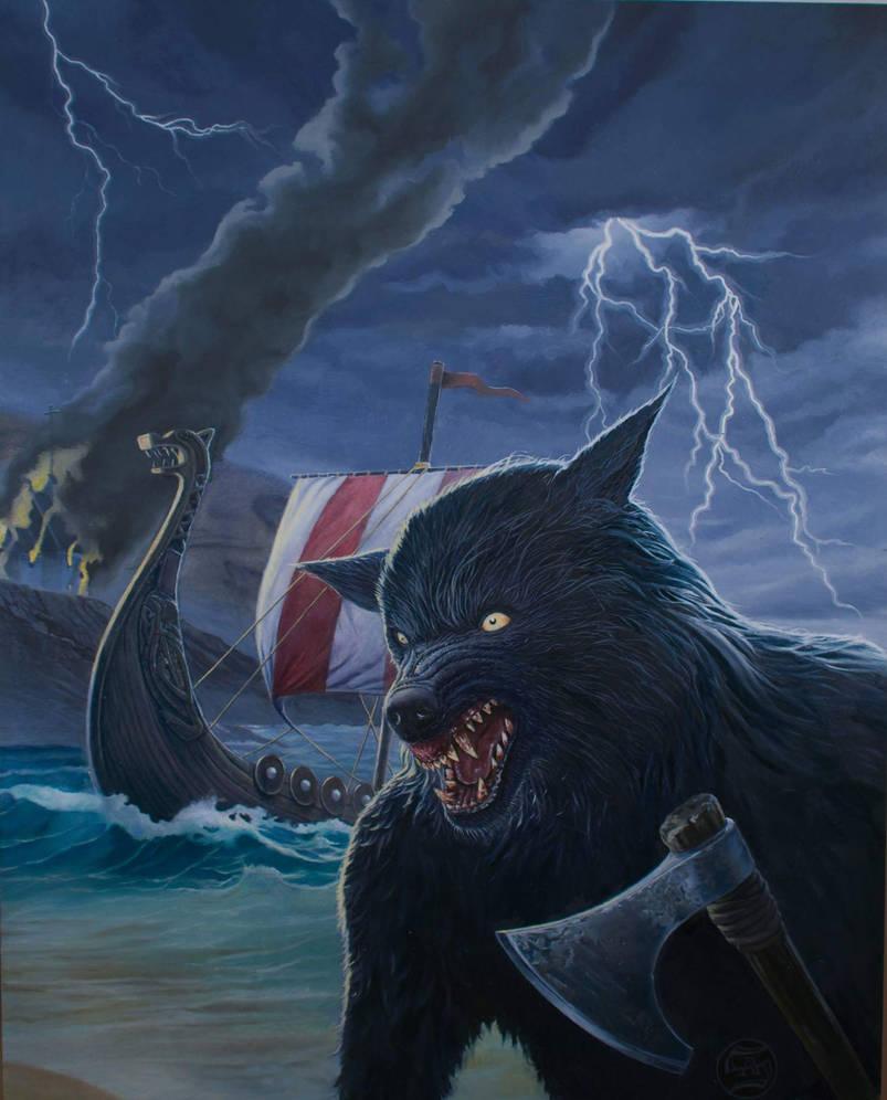Viking Werewolf by AaronStockwellart