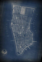 Map of Manhattan in New York City