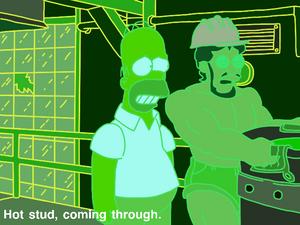 Virtual gay steel mill