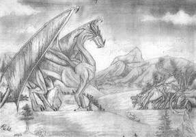 Dragon Sketch by Rachet777