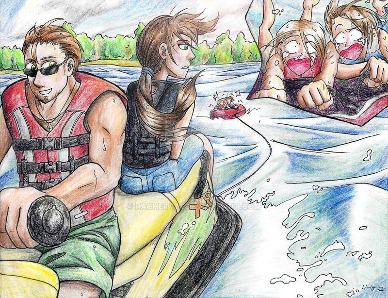 Summer Fun Jet Skiing by Rachet777