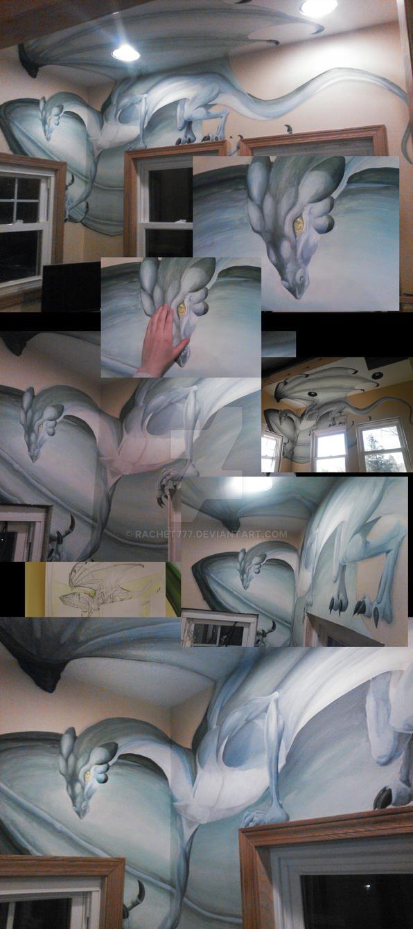 Dragon mural by rachet777 on deviantart for Dragon mural wallpaper