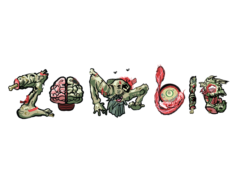 Zombie-illustrative-font by narutokunobessed