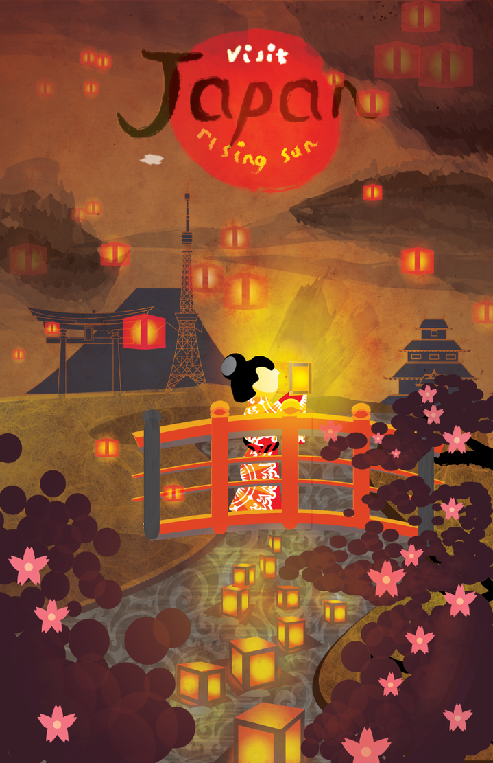Obon Festival Travel Poster by narutokunobessed