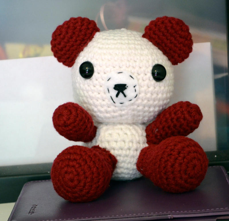 Crimson Tide Themed Bear by Blissful-Creations