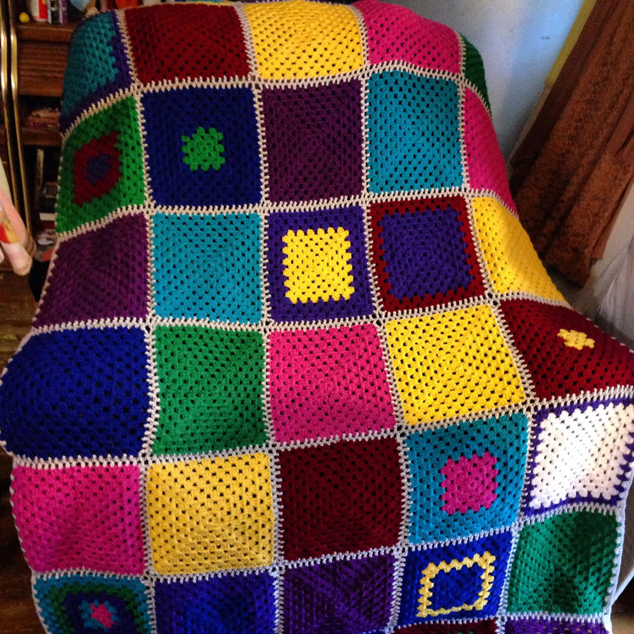 Granny Square Afghan by Blissful-Creations