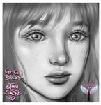 Practice Paint (Black and White) 2 by oooangelicartooo