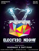 Electric Nights Flyer by Grafixity