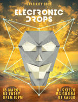 Electronic Drops Flyer by Grafixity