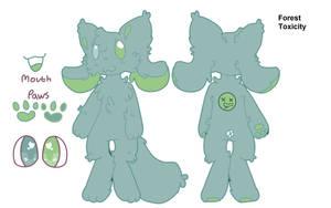 Forest Toxicity-kittydog oc by FionnaBun
