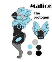 Malice the protogen by FionnaBun