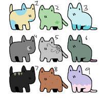 Tiny Kitty adopt batch (open) by Mawairu