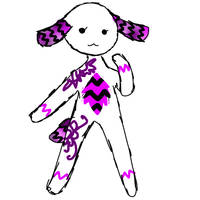 Plushfluff mascot idea by FionnaBun