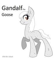 Gandalf the goose ref by FionnaBun