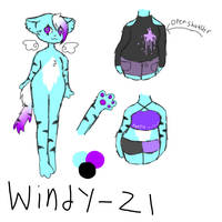 Windy Ref 2018 (Secondary Fursona) by FionnaBun