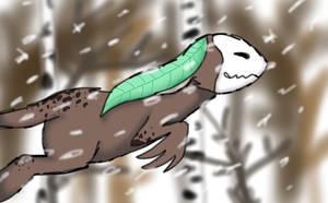 Winter Woods by Mawairu