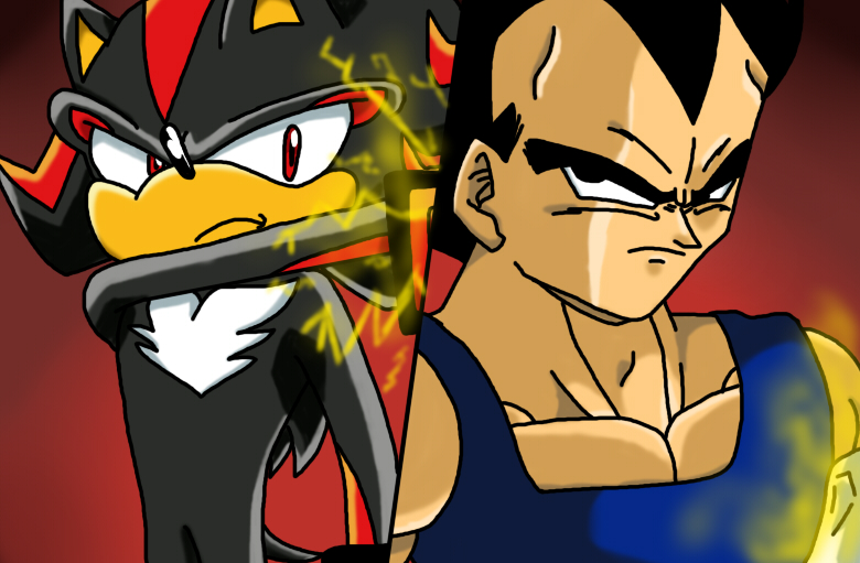 Shadow and Vegeta by XxskylordxX