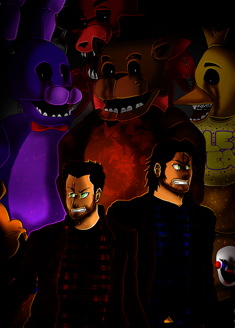 Winchesters in Five Nights at Freddy's by XxInsaneLunaticxX